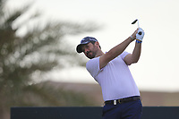 Thomas Aiken (RSA) on the 8th tee during the 2nd round of  the Saudi International powered by Softbank Investment Advisers, Royal Greens G&CC, King Abdullah Economic City,  Saudi Arabia. 31/01/2020<br /> Picture: Golffile | Fran Caffrey<br /> <br /> <br /> All photo usage must carry mandatory copyright credit (© Golffile | Fran Caffrey)