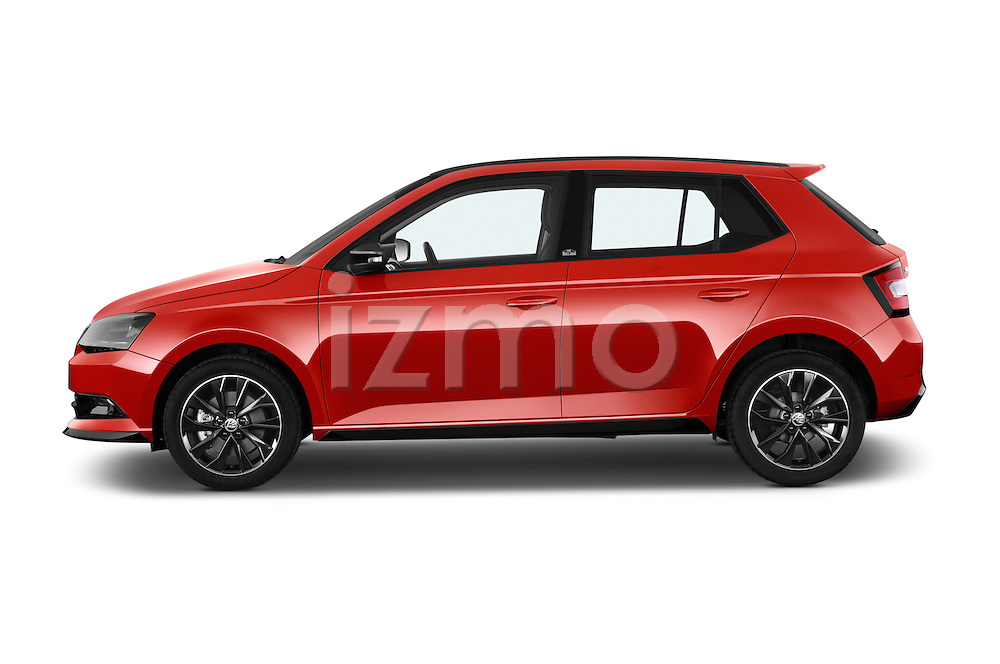Car Driver side profile view of a 2016 Skoda Fabia Monte-Carlo 5 Door Hatchback Side View