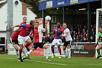 Scott Doe of Dagenham goes close with a header during Woking vs Dagenham & Redbridge, Vanarama National League Football at The Laithwaite Community Stadium on 7th October 2017