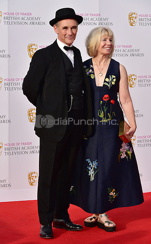 LONDON, ENGLAND - MAY 08: Mark Rylance, Claire van Kampen at he British Academy (BAFTA) Television Awards 2016, Royal Festival Hall, Belvedere Road, London, England, UK, on Sunday 08 May 2016.<br /> CAP/JOR<br /> &copy;JOR/Capital Pictures /MediaPunch ***NORTH AMERICA AND SOUTH AMERICA ONLY***