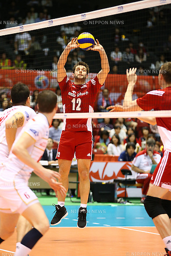 Grzegorz Lomacz (POL),<br /> MAY 29, 2016 - Volleyball :<br /> Men's Volleyball World Final Qualification for the Rio de Janeiro Olympics 2016<br /> match between France 2-3 Poland<br /> at Tokyo Metropolitan Gymnasium, Tokyo, Japan.<br /> (Photo by Shingo Ito/AFLO SPORT)