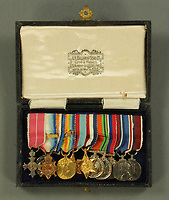 BNPS.co.uk (01202 558833)<br /> Pic: MitchellsAuctionHouse/BNPS<br /> <br /> PICTURED: Colonel Vassal Charles Steer-Webster's medals<br /> <br /> The fascinating archive of one of the engineers who designed the Mulberry Harbours which were installed off the Normandy coast following the D-Day landings has come to light.<br /> <br /> Colonel Vassal Charles Steer-Webster OBE helped create the giant, floating artificial harbours which protected anchored supply ships from German attacks.<br /> <br /> They were built in the dry docks on The Thames and Clyde and pulled across the channel by tugs before being hastily assembled.<br /> <br /> Col Steer-Webster was in almost daily contact with Churchill during their development ahead of June 6, 1944. Now, his personal effects, including a letter of thanks from Winston Churchill, are being sold by his nephew with Mitchells Auctioneers, of Cockermouth, Cumbria. <br /> <br /> The archive, which is expected to fetch £15,000, also features 150 photos showing Mulberry B's construction and use, as well as his medals.