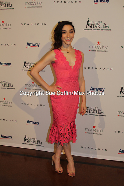 Meryl Davis honored - The 11th Annual Skating with the Stars Gala - a benefit gala for Figure Skating in Harlem - honoring Meryl Davis & Charlie White (Olympic Ice Dance Champions and Meryl winner on Dancing with the Stars) and presented award by Tamron Hall on April 11, 2016 on Park Avenue in New York City, New York with many Olympic Skaters and Celebrities. (Photo by Sue Coflin/Max Photos)