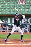 Damion Smith (30) of the Missoula Osprey at bat against the Ogden Raptors in Pioneer League action at Lindquist Field on August 5, 2014 in Ogden, Utah.  (Stephen Smith/Four Seam Images)