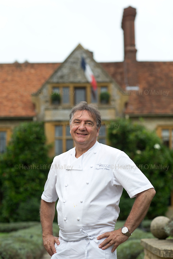 May0072307 . Daily Telegraph<br /> <br /> <br /> DT Weekend<br /> <br /> Chef Raymond Blanc at his Hotel Restaurant Le Manoir in Oxfordshire<br /> <br /> Oxfordshire 6 September 2016
