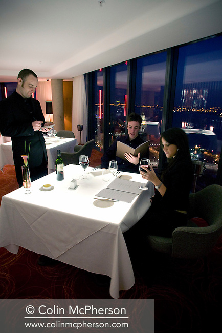 The Panorama bar and restaurant on the 34th floor of the Beetham Tower, Liverpool's tallest building.