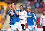 St Johnstone v Ross County...17.08.13 SPFL<br /> Frazer Wright puts his head in his hands after mssing a chance to make it 5-0<br /> Picture by Graeme Hart.<br /> Copyright Perthshire Picture Agency<br /> Tel: 01738 623350  Mobile: 07990 594431
