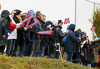 20191101 - Tubize: Norwegian fans pictured during the international friendly match between Red Flames U16 (Belgium) and Norway U16 on 1 November 2019 at Belgian Football Centre, Tubize. PHOTO:  SPORTPIX.BE   SEVIL OKTEM
