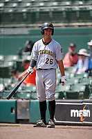 Pittsburgh Pirates Kevin Kramer (26) warms up on deck during an Instructional League game against the Baltimore Orioles on September 27, 2017 at Ed Smith Stadium in Sarasota, Florida.  (Mike Janes/Four Seam Images)