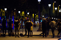 20/04/2017, Paris, France - Terror Attack Champs Elysee, police officer and suspect shot dead on Champs Elysees in attack claimed by Islamic State, one tourist woman injured, another french police officer badly injured, Paris, France, journalists covering # FUSILLADE CONTRE DES POLICIERS SUR LES CHAMPS-ELYSEES