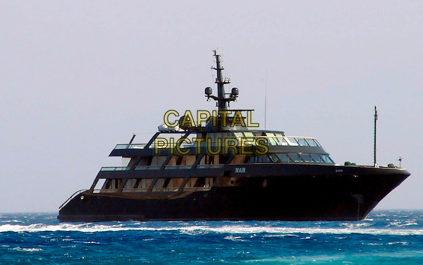 GIORGIO ARMANI'S MAIN YACHT.Spotted on Psarou Beach, Mykonos Island, Greece..August 18th, 2008.boat water ship.CAP/PPG.© Tarsos/People Picture/Capital Pictures
