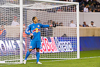 New York Red Bulls goalkeeper Luis Robles (31). The New York Red Bulls defeated Toronto FC 4-1 during a Major League Soccer (MLS) match at Red Bull Arena in Harrison, NJ, on September 29, 2012.