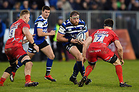 Henry Thomas of Bath Rugby in possession. Gallagher Premiership match, between Bath Rugby and Sale Sharks on December 2, 2018 at the Recreation Ground in Bath, England. Photo by: Patrick Khachfe / Onside Images