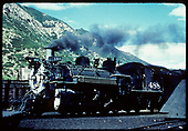 Fireman's-side view of D&amp;RGW #488 in Durango yards.<br /> D&amp;RGW  Durango, CO