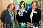 Bridget Boyle, Susan Barrett and Grace O'Donnell attending the the Start-up, Scale-up, Shape-up Local Enterprise Week event in the Ballygarry House Hotel on Tuesday.