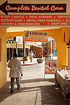 Dentist walking on the street, Los Algodones, B.C, Mexico.