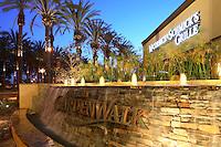 McCormick & Schmicks Grille Restaurant at the Anaheim Garden Walk at Dusk