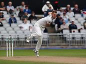 7th September 2017, Emirates Old Trafford, Manchester, England; Specsavers County Championship, Division One; Lancashire versus Essex; Jamie Porter of Essex bowls during his opening spell this morning