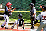 WATERBURY,  CT-071918JS13--Overlook's Braden Kunkel (5) is congratulated by teammates Lorenzo Rodrigues (21) and Liam Vance (8) as he came in  to score during their Roberto Clemente tournament game against Brooklyn (NY) Bonnie's Thursday at Municipal Stadium in Waterbury. <br /> Jim Shannon Republican American