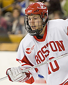 Chris Higgins - The Boston University Terriers defeated the Boston College Eagles 2-1 in overtime in the March 18, 2006 Hockey East Final at the TD Banknorth Garden in Boston, MA.