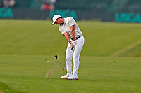 Rory McIlroy (NIR) hits his approach shot on the 16th hole during the second round of the 118th U.S. Open Championship at Shinnecock Hills Golf Club in Southampton, NY, USA. 15th June 2018.<br /> Picture: Golffile | Brian Spurlock<br /> <br /> <br /> All photo usage must carry mandatory copyright credit (&copy; Golffile | Brian Spurlock)