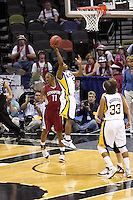 SAN ANTONIO, TX - MARCH 27, 2006: The Stanford University Cardinal meet the Louisiana State University Tigers in the NCAA Women's Basketball San Antonio Regional Championship Game in the AT&T Center. (Photo by Jeff Huehn)