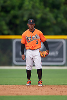 Baltimore Orioles Ozzie Martinez (3) during a minor league Spring Training intrasquad game on April 2, 2016 at Buck O'Neil Complex in Sarasota, Florida.  (Mike Janes/Four Seam Images)