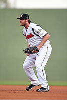 Nashville Sounds first baseman Hunter Morris (25) during a game against the Omaha Storm Chasers on May 19, 2014 at Herschel Greer Stadium in Nashville, Tennessee.  Nashville defeated Omaha 5-4.  (Mike Janes/Four Seam Images)