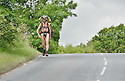 *** WARNING CONTENT MAY NOT BE SUITABLE FOR ALL ***.Naked Rambler Stephen Gough walks from Kinross down through Fife.