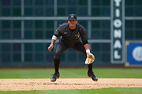Vanderbilt Commodores third baseman Jayson Gonzalez (99) on defense against the Sam Houston State Bearkats in game one of the 2018 Shriners Hospitals for Children College Classic at Minute Maid Park on March 2, 2018 in Houston, Texas. The Bearkats walked-off the Commodores 7-6 in 10 innings.   (Brian Westerholt/Four Seam Images)