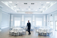 Owner George Filopoulos is seen in the newly renovated Rose Island Ballroom at Gurney's Newport Resort and Marina, which was formerly a Hyatt Regency hotel, on Goat Island in Newport, Rhode Island, on Wed., April 19, 2017. The entire hotel will be renewed with an approximately $18 million renovation to be completed by Memorial Day 2017. Almost everything in the ballroom was replaced. The windows at rear will soon be replaced with doors that open to a deck.