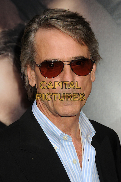 "Jeremy Irons.""The Words"" Los Angeles Premiere held at Arclight Cinemas, Hollywood, California, USA..September 4th, 2012.headshot portrait blue shirt black sunglasses shades stripe .CAP/ADM/BP.©Byron Purvis/AdMedia/Capital Pictures."