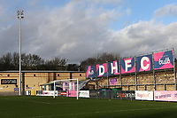 General view of Dulwich Hamlet FC during the funeral of Dulwich Hamlet FC supporter Mishi Morath at Champion Hill Stadium on 15th January 2020