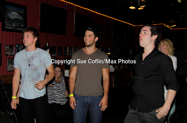 Chad Duell, Bryan Craig, Eddie Alderson at 15th Southwest Florida Soapfest 2014 Charity Weekend with a Bartending/Karaoke get together on May 26, 2104 at Porky's, Marco Island, Florida. (Photo by Sue Coflin/Max Photos)