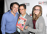 James Wesley and Seth Rudetsky with daughter Juli Wesley attend the Seth Rudetsky Book Launch Party for 'Seth's Broadway Diary' at Don't Tell Mama Cabaret on October 22, 2014 in New York City.