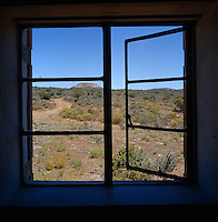 The view from the window - a vast expanse of  open landscape