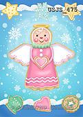 Janet, CHRISTMAS SANTA, SNOWMAN, paintings+++++,USJS475,#X# angels