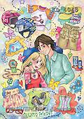 Interlitho, Dani, TEENAGERS, paintings, trendy friends(KL4045,#J#) Jugendliche, jóvenes, illustrations, pinturas ,everyday