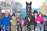 AT THE HUNT: Gerard Coughlan, Jonathon OConnor, Lydia OConnor, Reidin OConnor and Chloe Coughlan (all Killarney) at the Kingdom Hunt in Currow last Sunday..