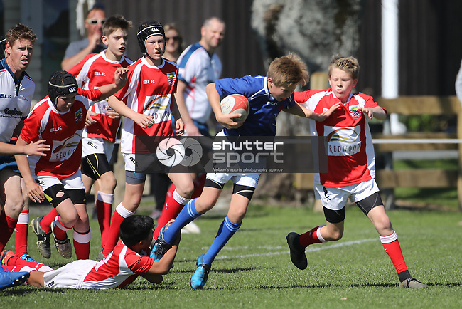 NELSON, NEW ZEALAND - SEPTEMBER 22:  Nelson Bays v Marlborough U48KG Jubilee Park on September 22 2018 in  Nelson, New Zealand. (Photo by: Evan Barnes Shuttersport Limited)