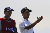 Xander Schauffele (USA) on the 7th tee during Friday's Round 2 of the 117th U.S. Open Championship 2017 held at Erin Hills, Erin, Wisconsin, USA. 16th June 2017.<br /> Picture: Eoin Clarke | Golffile<br /> <br /> <br /> All photos usage must carry mandatory copyright credit (&copy; Golffile | Eoin Clarke)