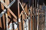 Shop front shutter in Newtonw, Sydney, NSW, Australia