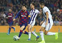 29th October 2019; Camp Nou, Barcelona, Catalonia, Spain; La Liga Football, Barcelona versus Real Valladolid; Leo Messi beats his defender