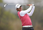 JEJU, SOUTH KOREA - APRIL 22:  Pablo Larrazabal of Spain tees off on the 14th hole during the Round One of the Ballantine's Championship at Pinx Golf Club on April 22, 2010 in Jeju island, South Korea. Photo by Victor Fraile / The Power of Sport Images
