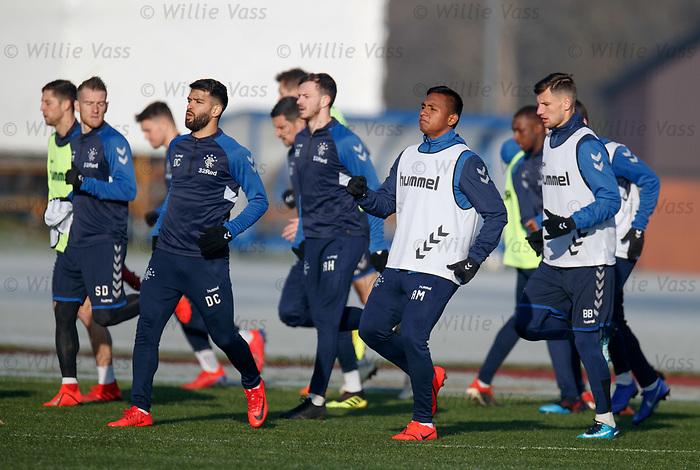 01.02.2019: Rangers training: Daniel Candeias and Alfredo Morelos