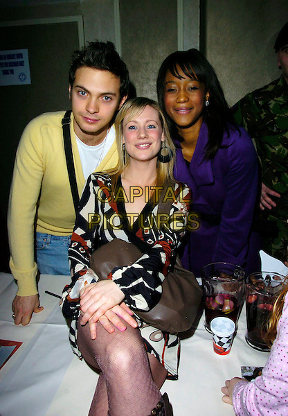 MATT DI ANGELO, KELLIE SHIRLEY & TIANA BENJAMIN.At The Mad Hatters Tea Party, Grosvenor House, Park Lane, London, England, January 28th 2007..half length.CAP/CAN.©Can Nguyen/Capital Pictures