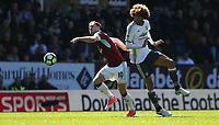 Burnley's Ashley Barnes gets away from Manchester United's Marouane Fellaini<br /> <br /> Photographer Stephen White/CameraSport<br /> <br /> The Premier League - Burnley v Manchester United - Sunday 23rd April 2017 - Turf Moor - Burnley<br /> <br /> World Copyright &copy; 2017 CameraSport. All rights reserved. 43 Linden Ave. Countesthorpe. Leicester. England. LE8 5PG - Tel: +44 (0) 116 277 4147 - admin@camerasport.com - www.camerasport.com