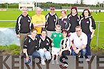 BE AWARE: The member's of the Open Arms Project who held a fun day in aid of Be Aware Prevent Suicide at Mounthawk park, Tralee on Sunday front l-r: Jackie Fealey, Tara O'Sullivan, Jamie O'Sullivan, Moira O'Sullivan, and John Loughrey. Back l-r: John O'Brien, John O'Sullivan, John O'Brien, Sinead Kinsella-Connolly, Mikeala Horan and Caitriona Locke.