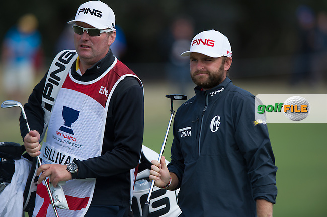 Andy Sullivan (ENG) during round 3 at the ISPS Handa World Cup of Golf, from Kingston heath Golf Club, Melbourne Australia. 26/11/2016<br /> Picture: Golffile | Anthony Powter<br /> <br /> <br /> All photo usage must carry mandatory copyright credit (&copy; Golffile | Anthony Powter)