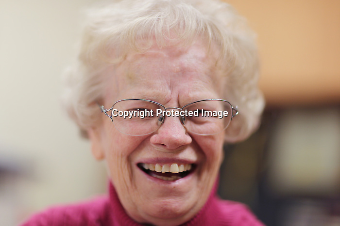 Site manager for Holy Trinity Manor Sister Ruth Ann Hehn laughs in her office in the facility that houses low income elderly and disabled people earlier this week. Hehn, 71, says she loves the people that work for the poor and social justice are what is special about Laramie County.  Michael Smith/staff